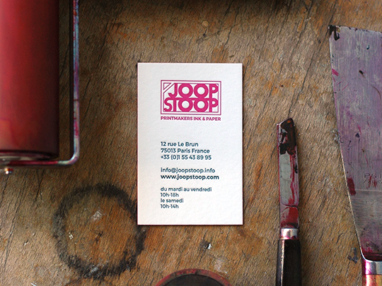 Cartes Letterpress Joop Stoop
