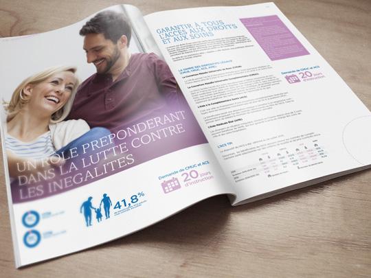 rapport d'activité - design editorial